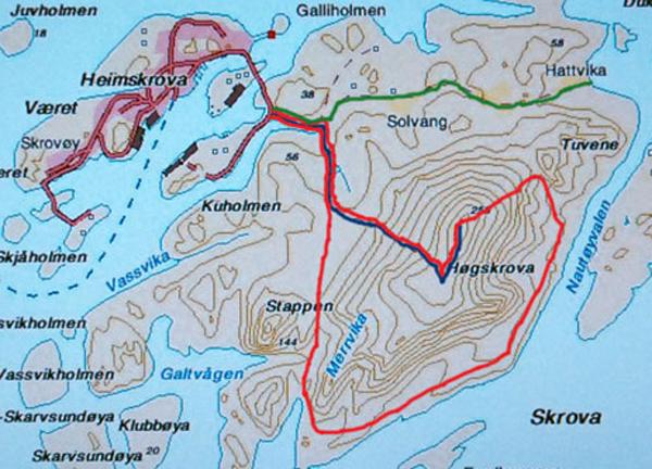 kart over skrova Skrova kart over skrova